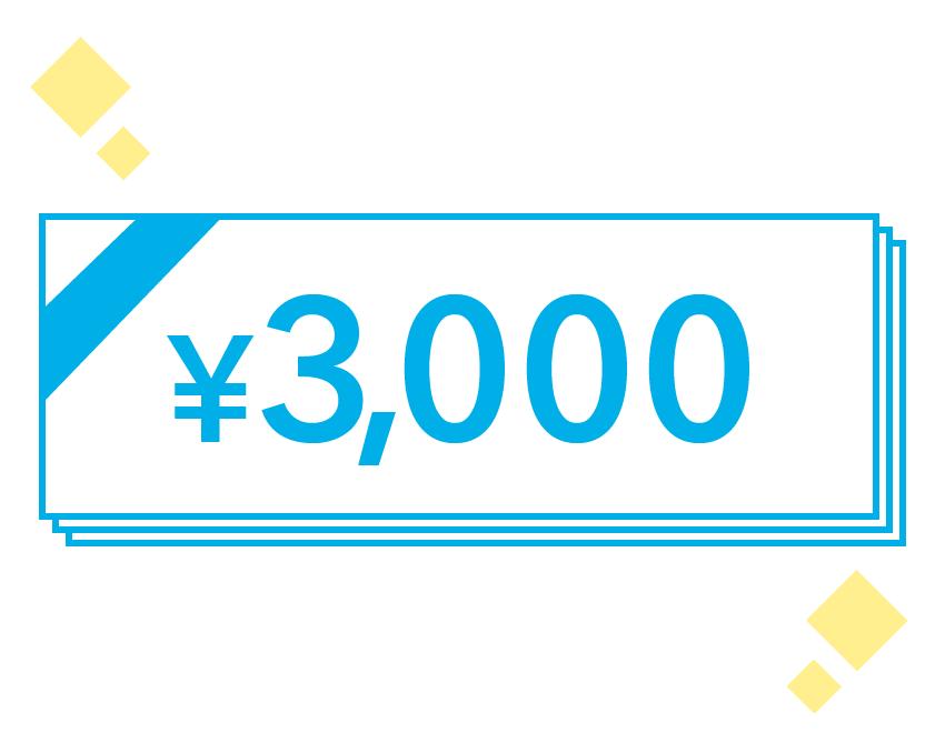 3,000円プレゼント