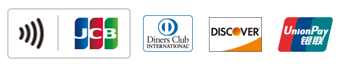 JCB Diners Club INTERNATIONNAL DISCOVER UnionPay(銀聯)