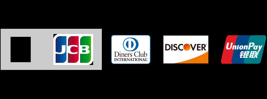 JCB Diners Club INTERNATIONNAL DISCOVER UnionPay(銀聯)
