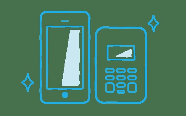 iPhoneと専用カードリーダー