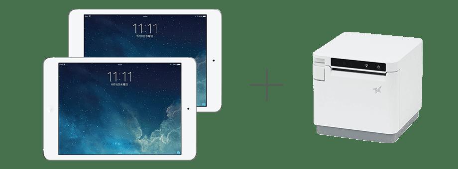 ipad・レシートプリンター お客様とスタッフが別々のiPadを利用